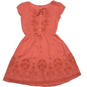 Hollister casual coral color mini dress size XS